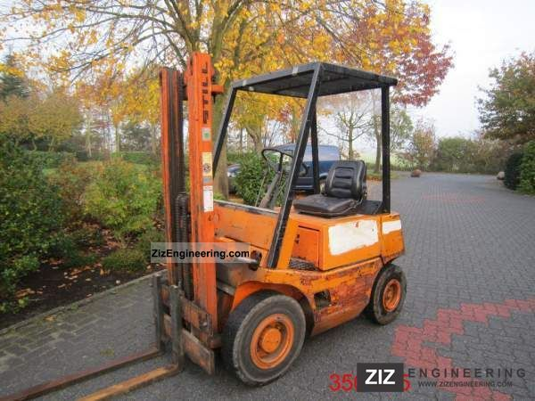 1980 Still  DFG 16 Forklift truck Front-mounted forklift truck photo