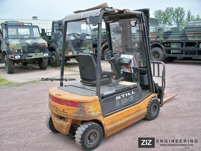 1998 Still  EFG R 20-16 P TRIPLEX SEITENHUB Forklift truck Front-mounted forklift truck photo