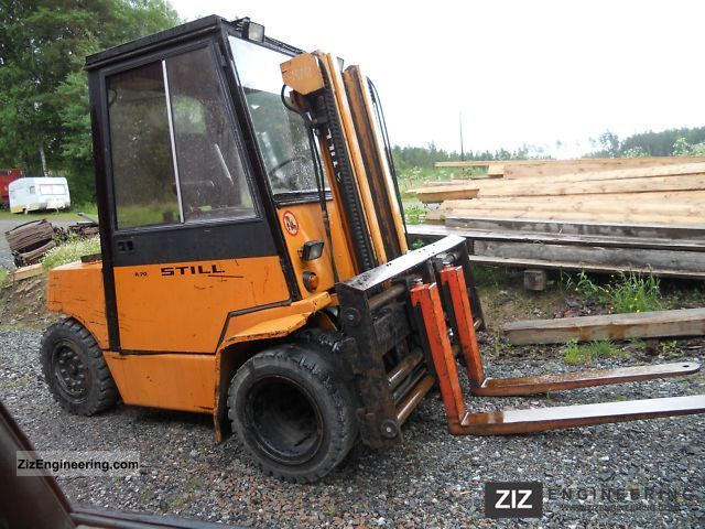 1984 Still  PRZESÓW / 4 DIESEL TONY / TANI TRANSPORT Forklift truck Front-mounted forklift truck photo