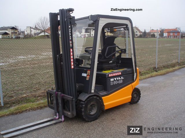 2003 Still  R 60-25 - TRIPLEX 5.2 m - SS - only 3010 hours Forklift truck Front-mounted forklift truck photo