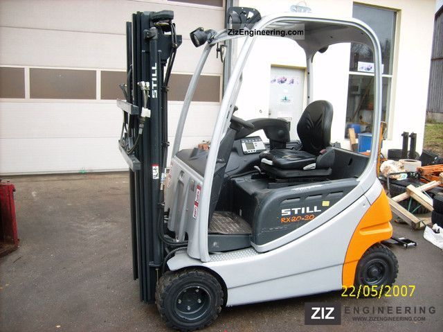 still rx20 20 2007 front mounted forklift truck photo and. Black Bedroom Furniture Sets. Home Design Ideas