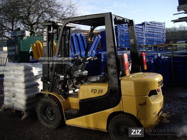 2003 TCM  FD 25 Forklift truck Front-mounted forklift truck photo