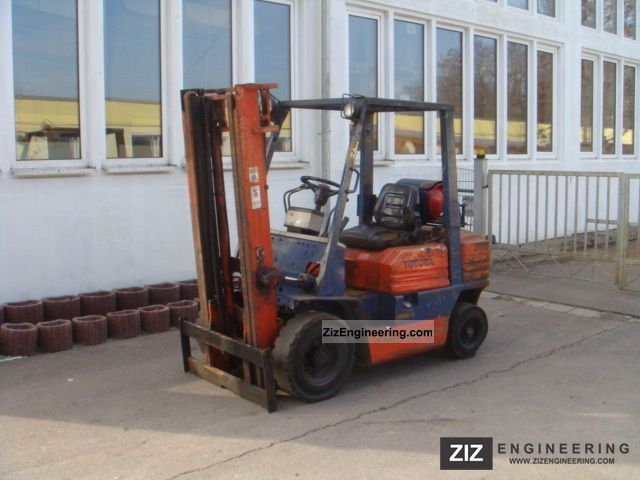 1988 Toyota  25 FG 42-5, telescopic / free defective vision, Forklift truck Front-mounted forklift truck photo