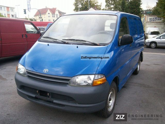 1996 Toyota  Hiace 2.5 D box truck 1.Hand Van or truck up to 7.5t Box-type delivery van photo