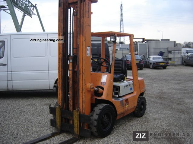 1987 Toyota  2 FGH 20 Forklift truck Front-mounted forklift truck photo