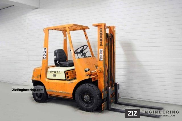 1990 Toyota  02-FD25, 4034Bts! Forklift truck Front-mounted forklift truck photo