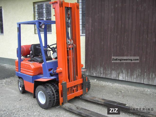 1992 Toyota  5FGF15 triplex full free lift gas Forklift truck Front-mounted forklift truck photo