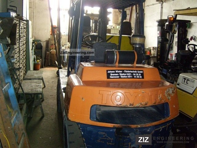 1997 Toyota  02-3FD35 Forklift truck Front-mounted forklift truck photo