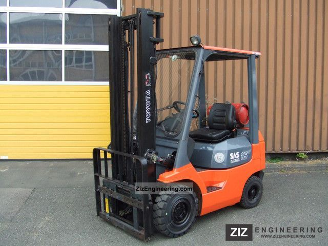 1999 Toyota  42-7FGF15 Forklift truck Front-mounted forklift truck photo