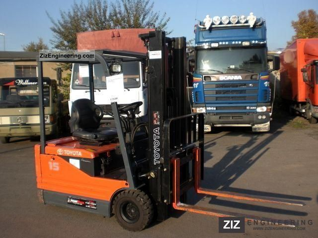 2003 Toyota  5FBE15 Elek.Seitenschieber-102 hours! Forklift truck Front-mounted forklift truck photo