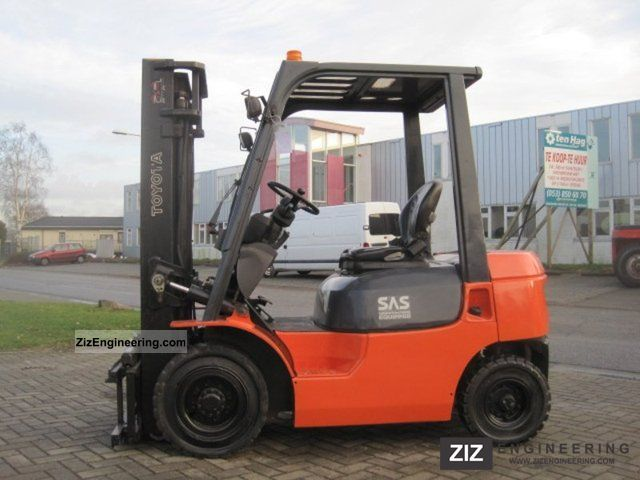 2003 Toyota  7FDF 62 20 / SIDE SHIFT Forklift truck Front-mounted forklift truck photo