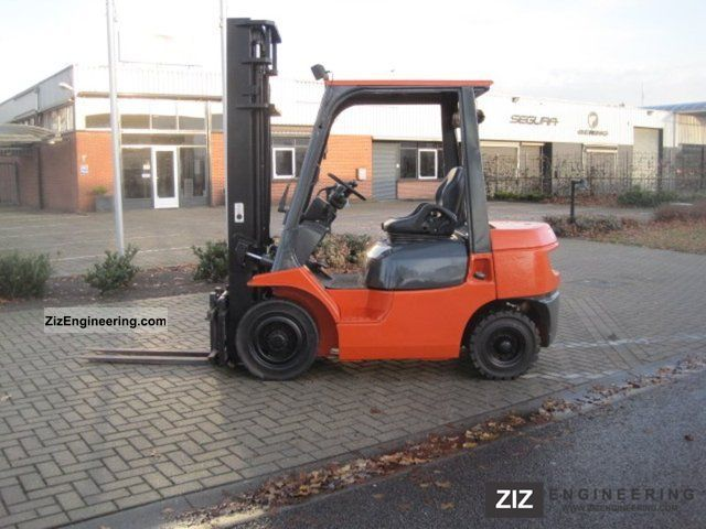 1999 Toyota  7FDF 62 25 / SIDE SHIFT Forklift truck Front-mounted forklift truck photo
