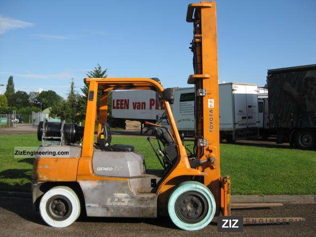 2003 Toyota  7FG35 Forklift truck Front-mounted forklift truck photo