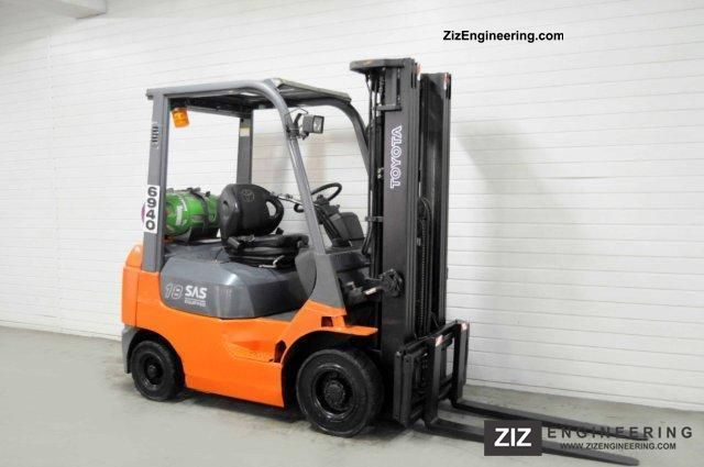 2006 Toyota  42-7FGF18, SS, TRIPLEX, 3233Bts ONLY! Forklift truck Front-mounted forklift truck photo