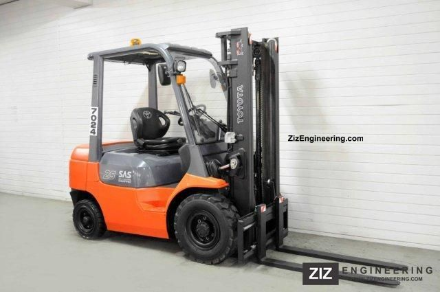 2005 Toyota  62-7FDF25, SS, 2892Bts ONLY! Forklift truck Front-mounted forklift truck photo
