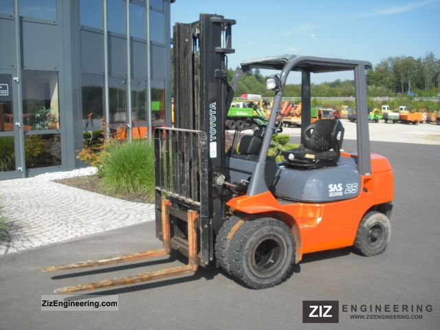 1999 Toyota  62-7 FDF 25 - dual tires - Original 1400 h, Forklift truck Front-mounted forklift truck photo