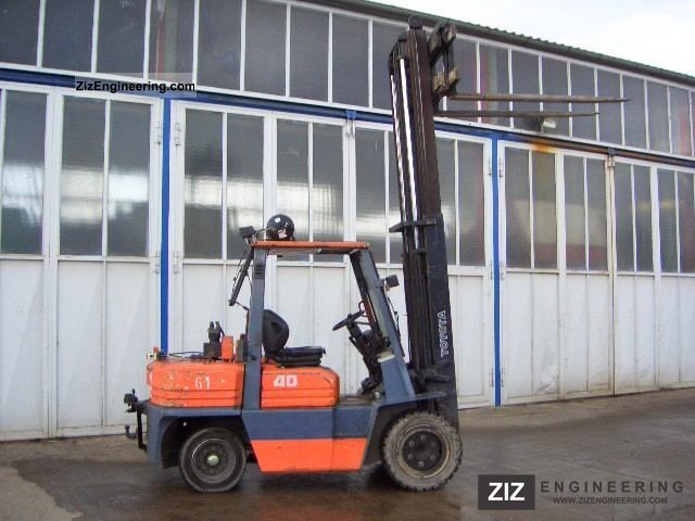 1996 Toyota  02-5FD35 Forklift truck Front-mounted forklift truck photo