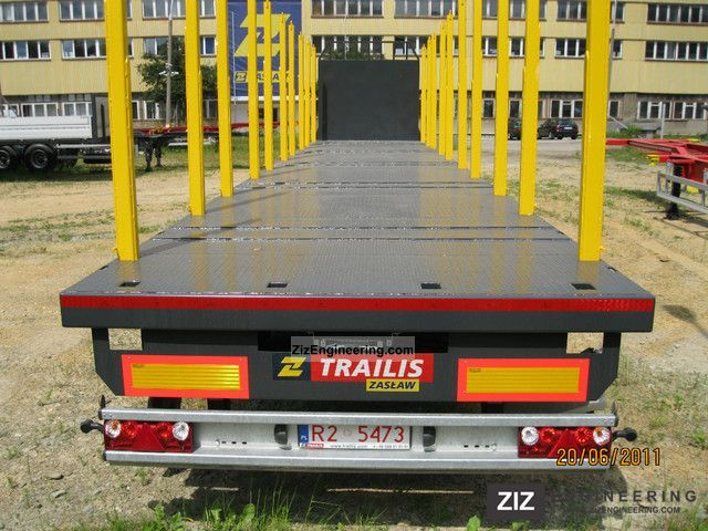 Trailis timber semi trailer with floor 2012 for 13 floor trailer