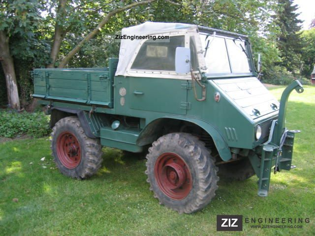 unimog 411 1959 tipper truck photo and specs. Black Bedroom Furniture Sets. Home Design Ideas