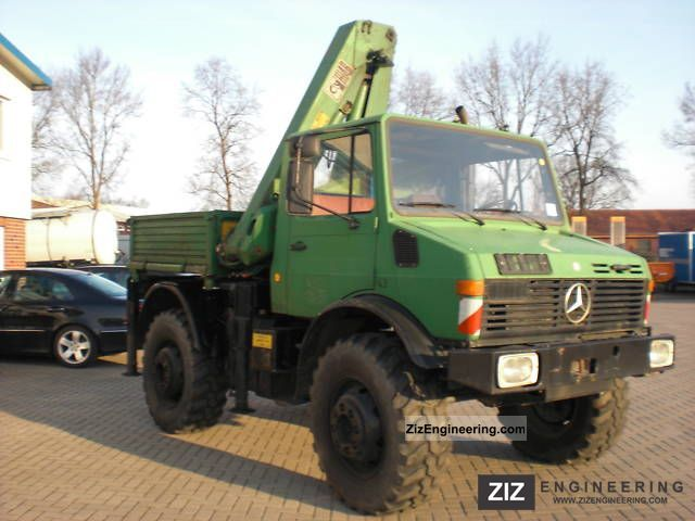 unimog u 1300 with crane hiab 965 aw 1980 stake body truck. Black Bedroom Furniture Sets. Home Design Ideas