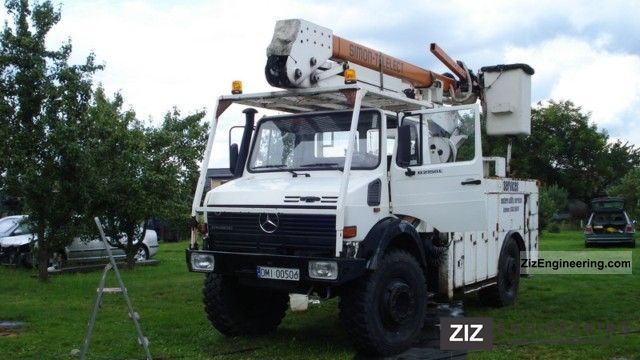 1995 Unimog  U2150 Truck over 7.5t Hydraulic work platform photo