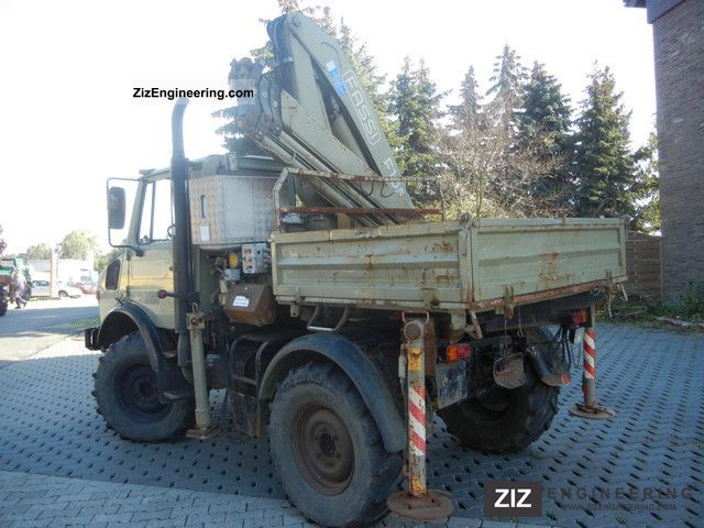 Chipper Truck For Sale >> Unimog UNIMOG 1400 with Fassi 105 crane 1998 Truck-mounted crane Photo and Specs