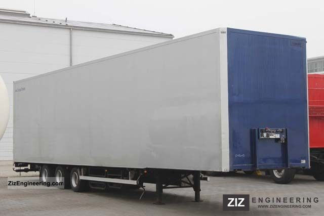 2003 Van Eck  AIR FREIGHT MEGA Case + roller conveyors Semi-trailer Box photo