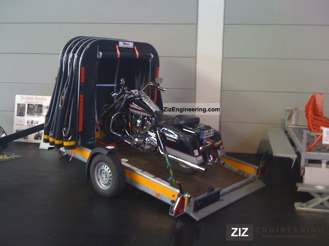 2011 Voss  retractable trailer with sliding tarp Trailer Motortcycle Trailer photo