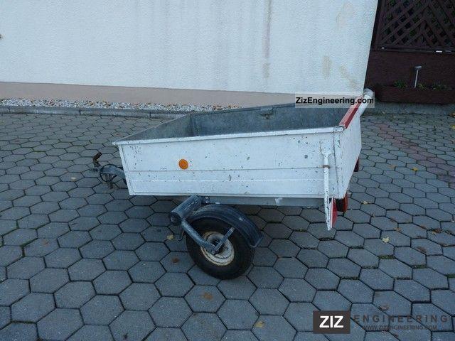 westfalia trailer 400 kg 1987 trailer photo and specs. Black Bedroom Furniture Sets. Home Design Ideas