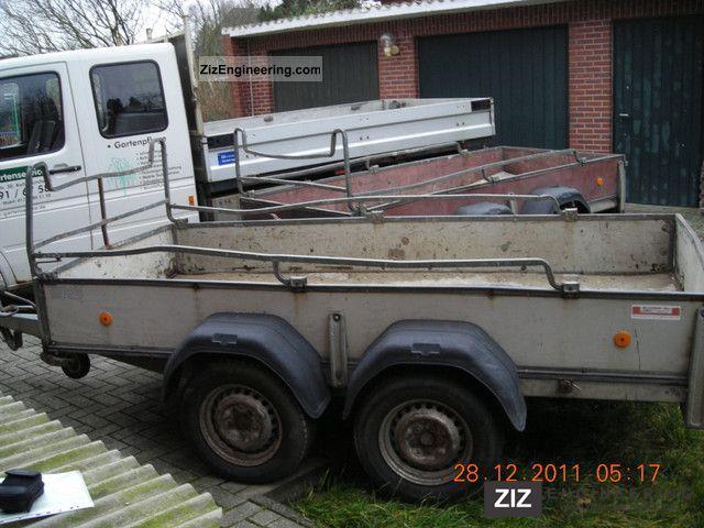1992 Westfalia  2000kg 2 tandem axles 3mX1.4m Trailer Trailer photo