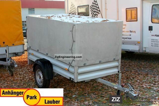 2002 Westfalia  7521 A, aluminum box with tarpaulin in gray Trailer Trailer photo
