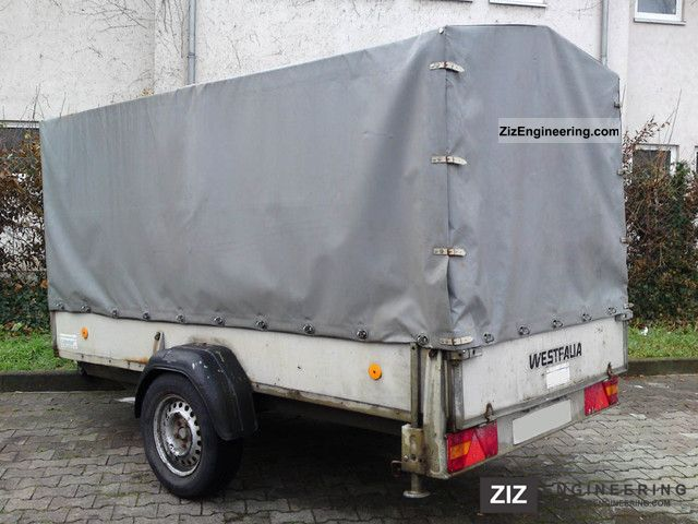 westfalia 300 x 140 tarp bows 1200 kg 1997 trailer photo. Black Bedroom Furniture Sets. Home Design Ideas