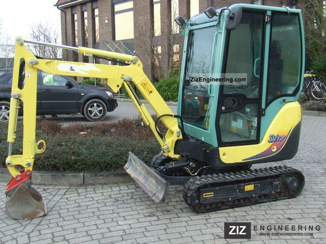 yanmar sv 17 ex 2011 mini kompact digger construction. Black Bedroom Furniture Sets. Home Design Ideas