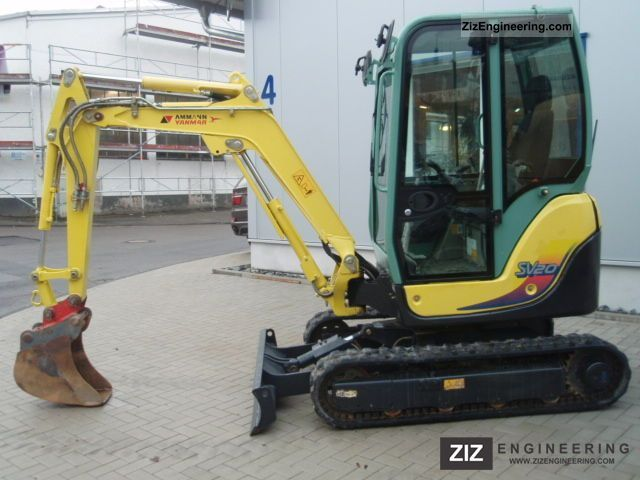 yanmar sv 20 from 2010 2011 mini kompact digger. Black Bedroom Furniture Sets. Home Design Ideas