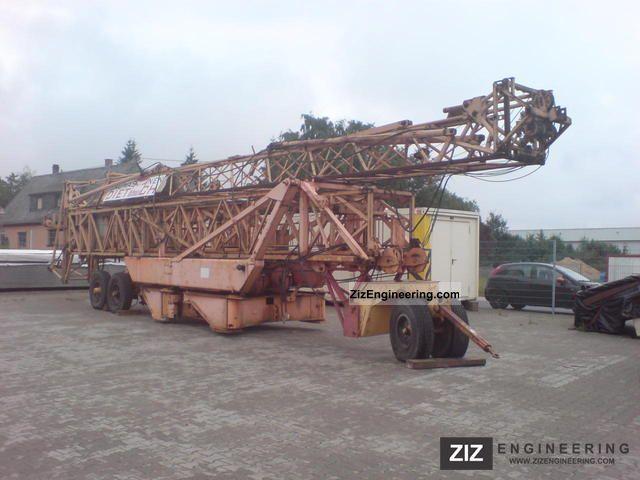 1983 Zettelmeyer  Cadillon stationary tower crane Kitmatik 38th Construction machine Other construction vehicles photo