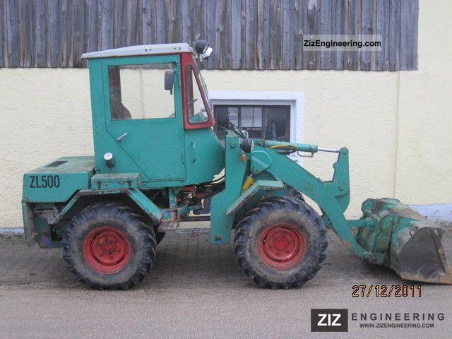 2011 Zettelmeyer  ZL 500 Construction machine Wheeled loader photo