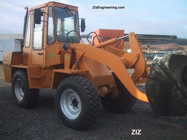 1990 Zettelmeyer  601 B Construction machine Wheeled loader photo