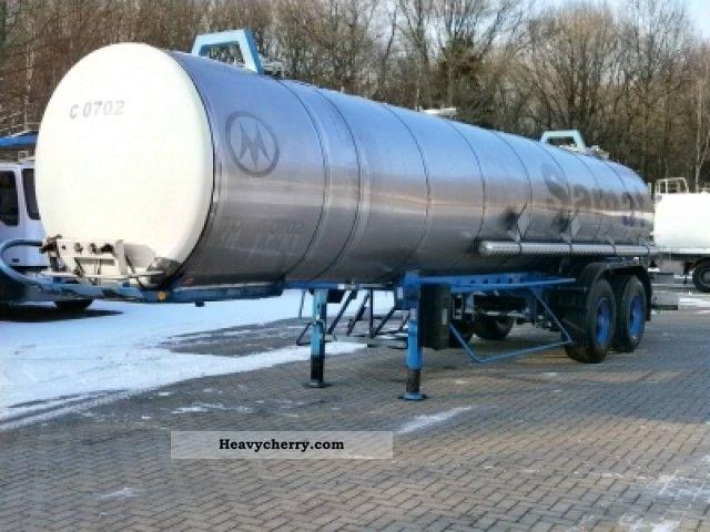1985 Magyar  Chemicals tank 21m3 / 1 comp Semi-trailer Tank body photo