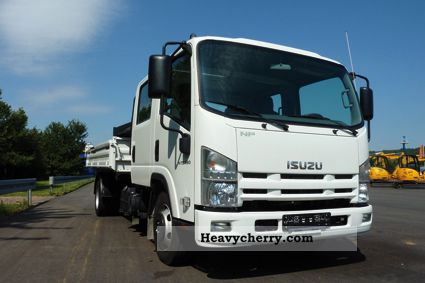 Isuzu NPR 75 Double Cab 2011 Three-sided Tipper Truck Photo and Specs