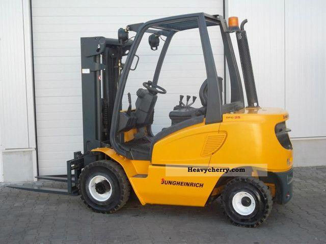 Jungheinrich Dfg 25 Bk 2 5 Ton Diesel Triplex 2003 Front Mounted Forklift Truck Photo And Specs