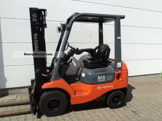 2007 Toyota  02-7 FDF 15 Forklift truck Front-mounted forklift truck photo