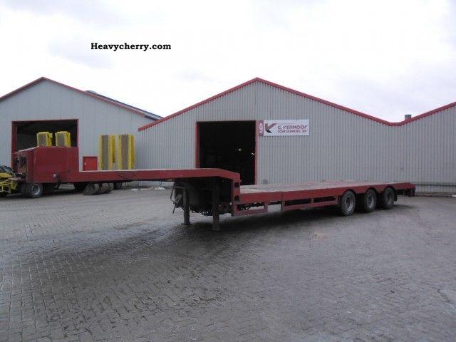 1997 Broshuis  E 2190 27 Semi-trailer Low loader photo