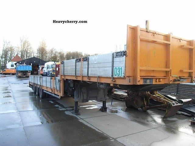1986 Broshuis  E 2190/27 Uitschuif, Semie Semi-trailer Low loader photo