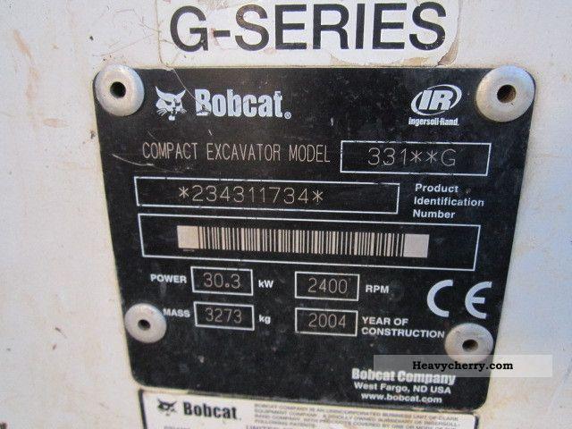 Bobcat 331 2004 Mini/Kompact-digger Construction Equipment