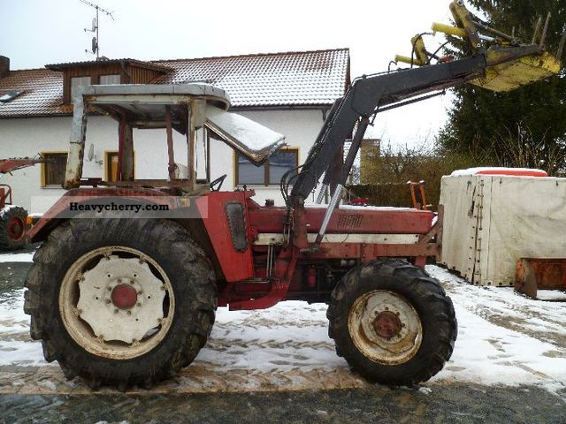 1974 IHC  844 + Industry Front Agricultural vehicle Tractor photo