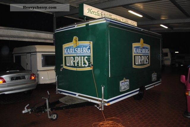 1992 Orten  SERVING Grote, SALE, BEER Trailer Traffic construction photo