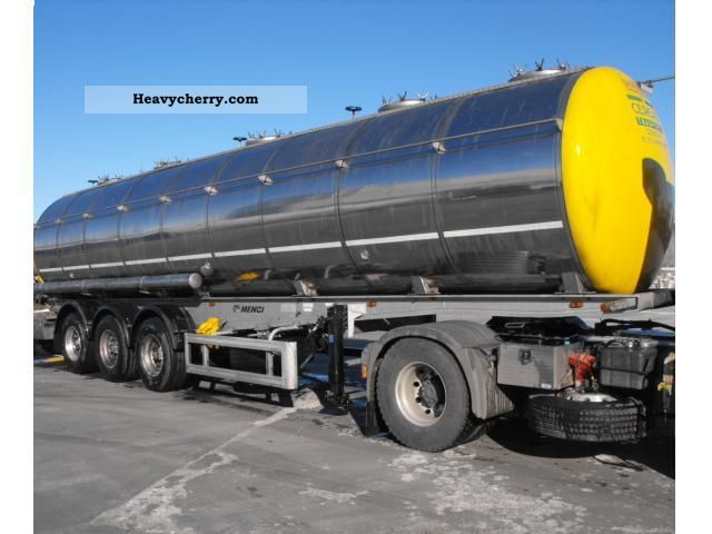 1995 Menci  STEAM HEATING FOOD INOX + + +1 ^ LIFT ABS 3xROOM = 30900L Semi-trailer Tank body photo