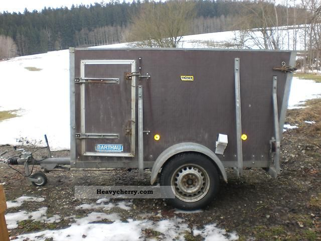 1991 Barthau  GM 1200 Trailer Cattle truck photo