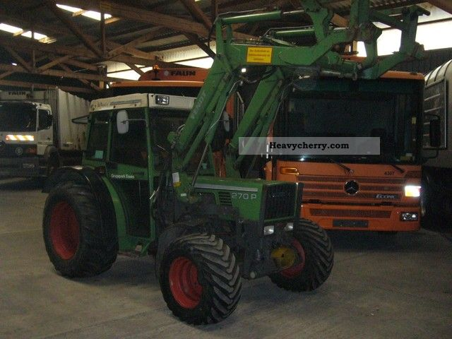 1993 Fendt  270 P * 1.Hand * Agricultural vehicle Tractor photo