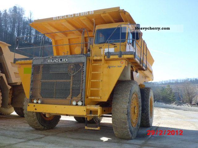 1989 Hitachi  Euclid R85B dumper dumper Construction machine Other construction vehicles photo